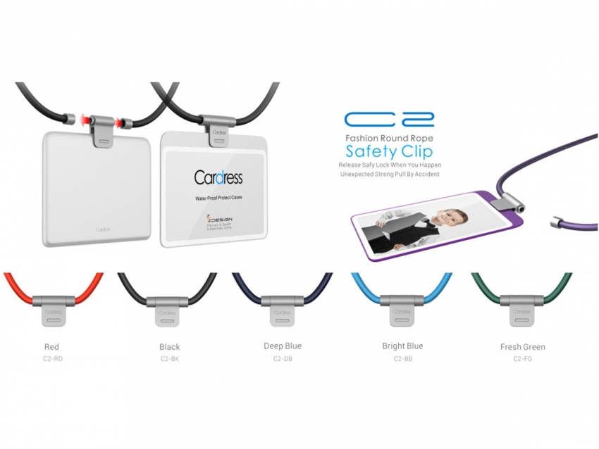Safety Breakaway Clip With Round Lanyard